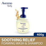 Aveeno Baby Soothing Relief Foaming Wash and Shampoo, 400ml