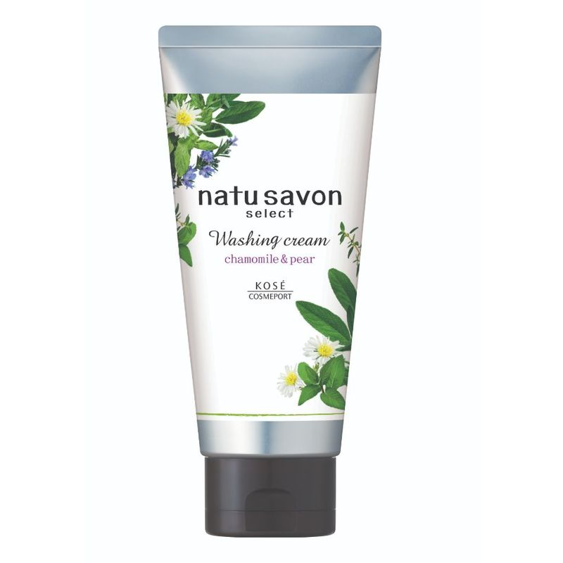 Natu Savon Select Washing Cream White Chamomile & Pear, 130g
