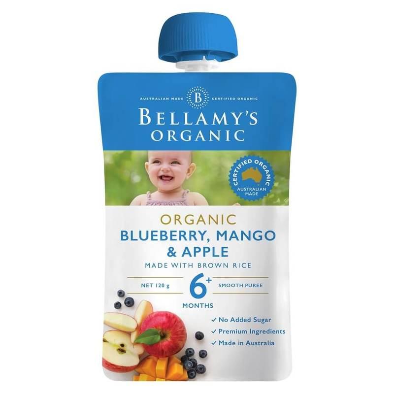 Bellamy's Organic Blueberry, Mango & Apple Pouch, 120g