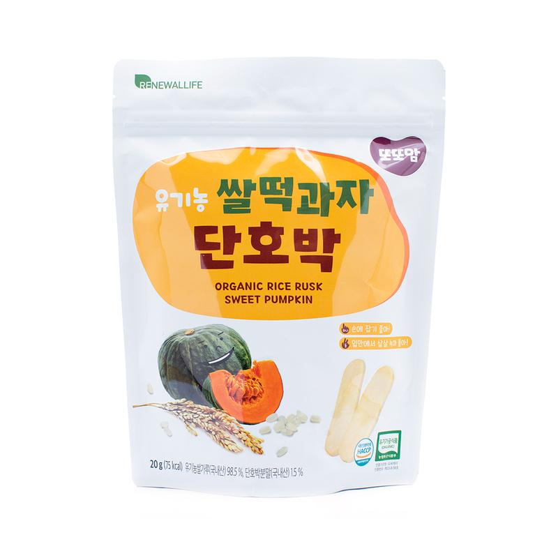 Renewallife Ddoddomam Organic Rice Rusk Sweet Pumpkin 20g