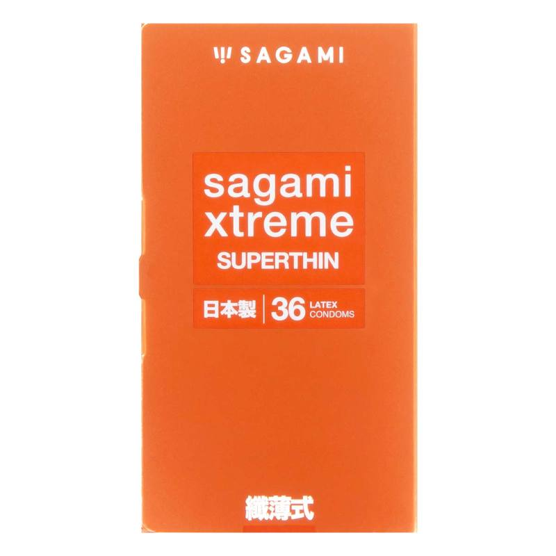 Sagami xtreme Superthin Latex Condom 36pcs