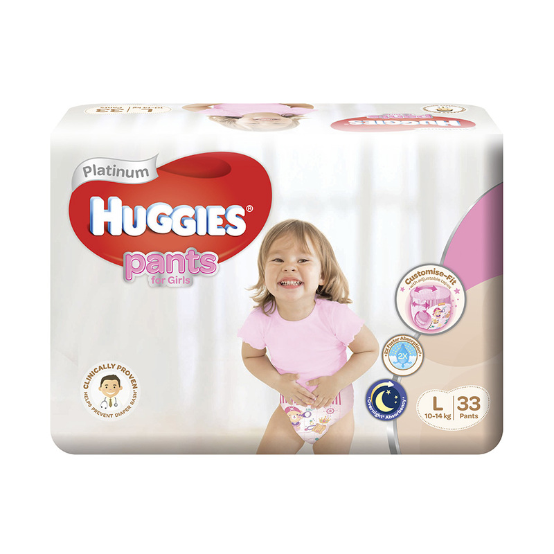 Huggies  Platinum Pants Girl Large (L) 33s