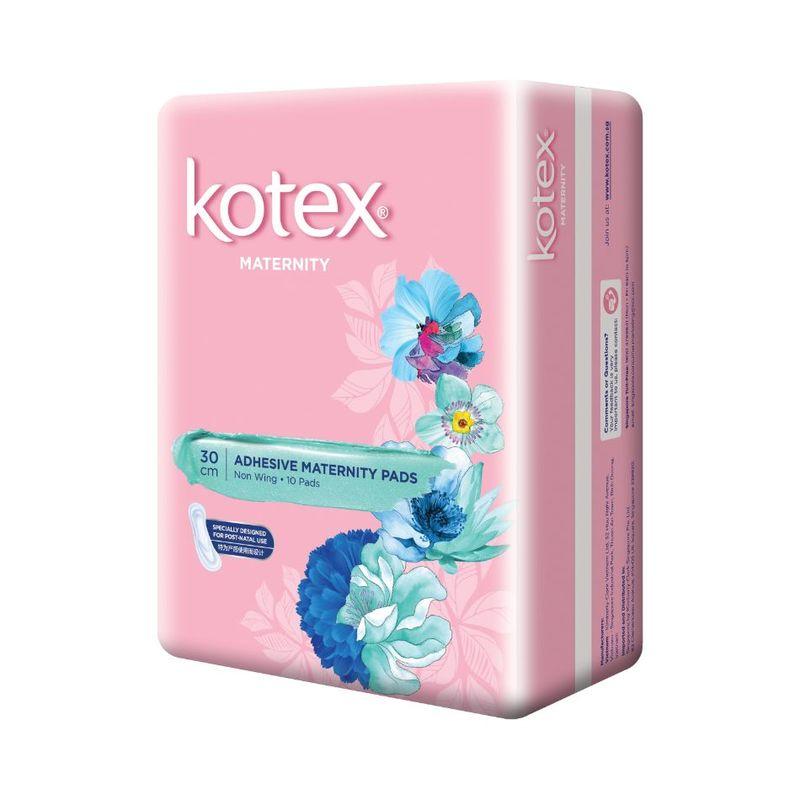 Kotex Adhesive Non-Wing Maternity Pads 30cm, 10s