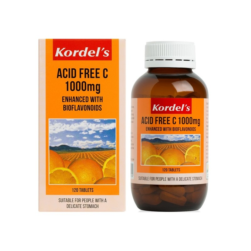 Kordel's Acid Free C 1000mg, 120 tablets