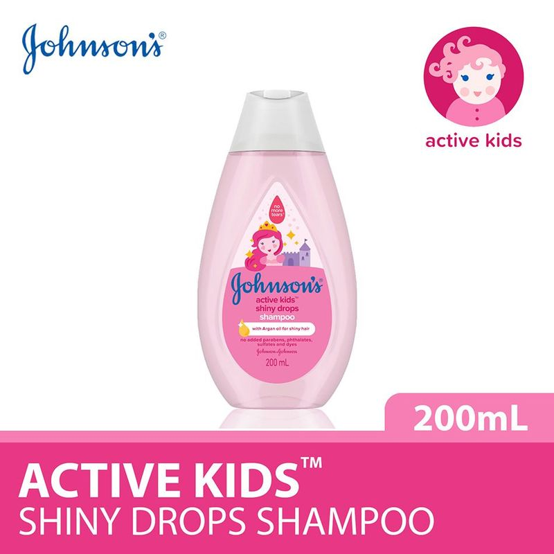 Johnson's Baby Active Kids Shiny Drops Shampoo 200ml