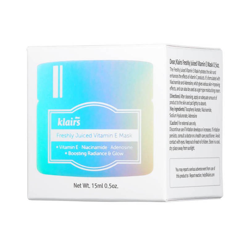 Dear, Klairs Freshly Juiced Vitamin E Mask Miniature, 15ml