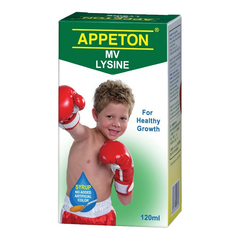 Appeton Multivitamin Lysine Syrup, 120ml