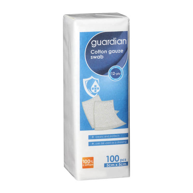 Guardian Cotton Gauze Swab 5cm x 5cm, 100pcs