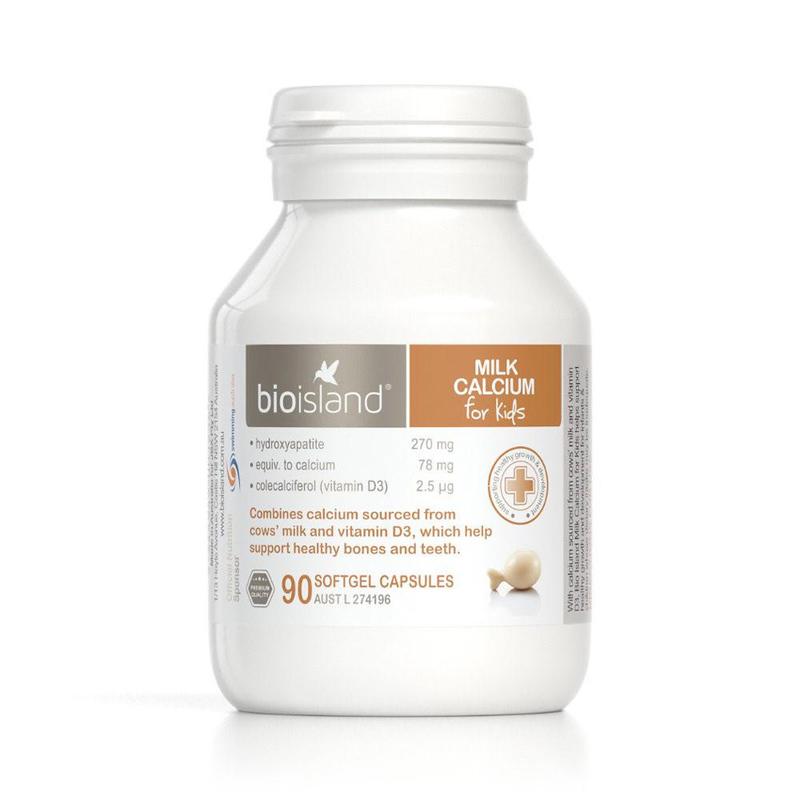 Bio Island Milk Calcium for Kids, 90 capsules