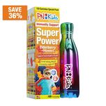 PNKids Super Power Elderberry + Vitamin C Value Pack with Stainless Steel Waterbottle