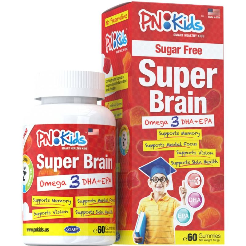 PNKids Super Brain Sugar Free, 60 Gummies