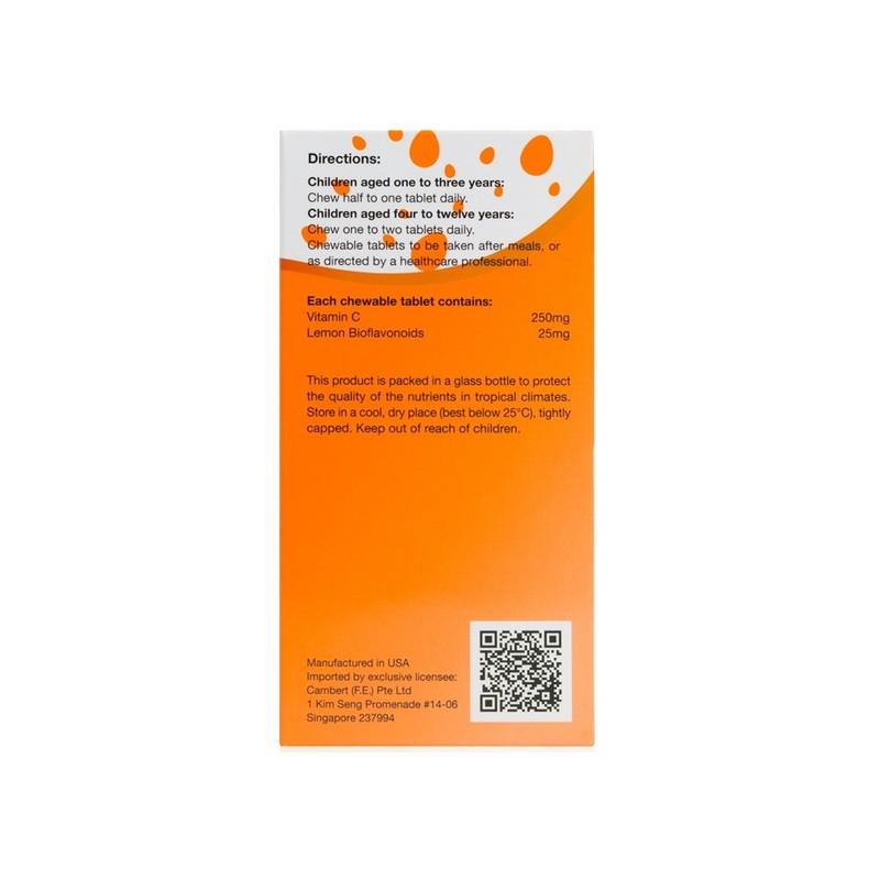 Kordel's Kid's Vitamin C 250mg + Bioflavonoids, 60 tablets