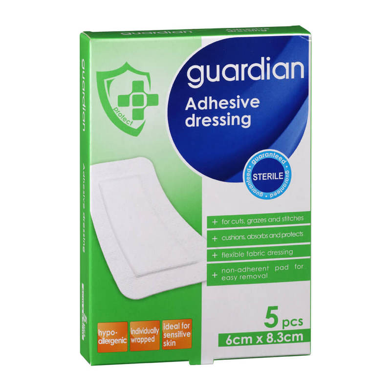 Guardian Adhesive Dressing 6cm X 8.3cm, 5pcs