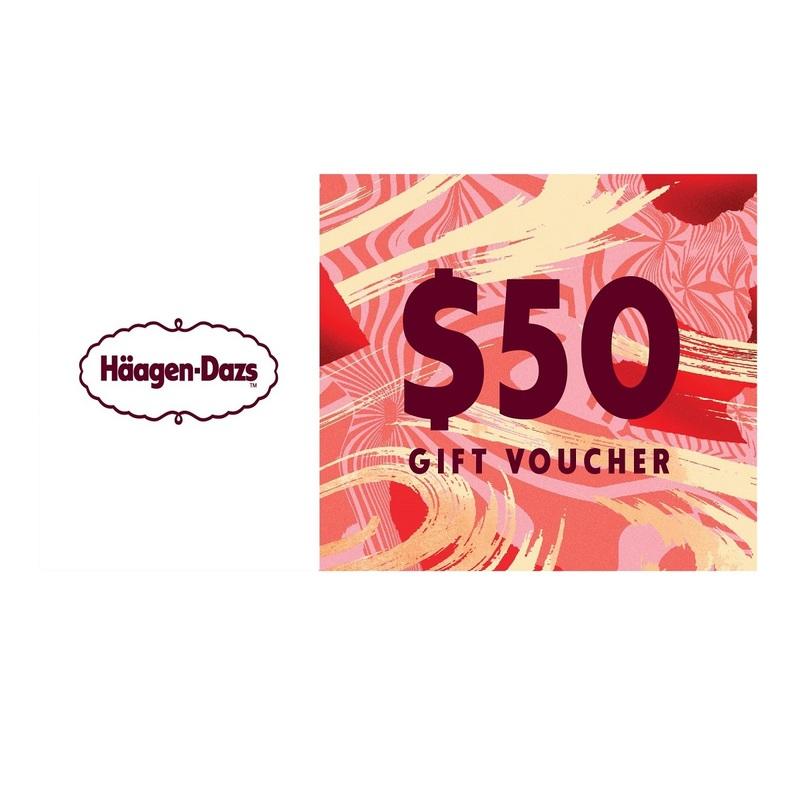 HAAGEN-DAZS $50 COUPONX3PCS-F