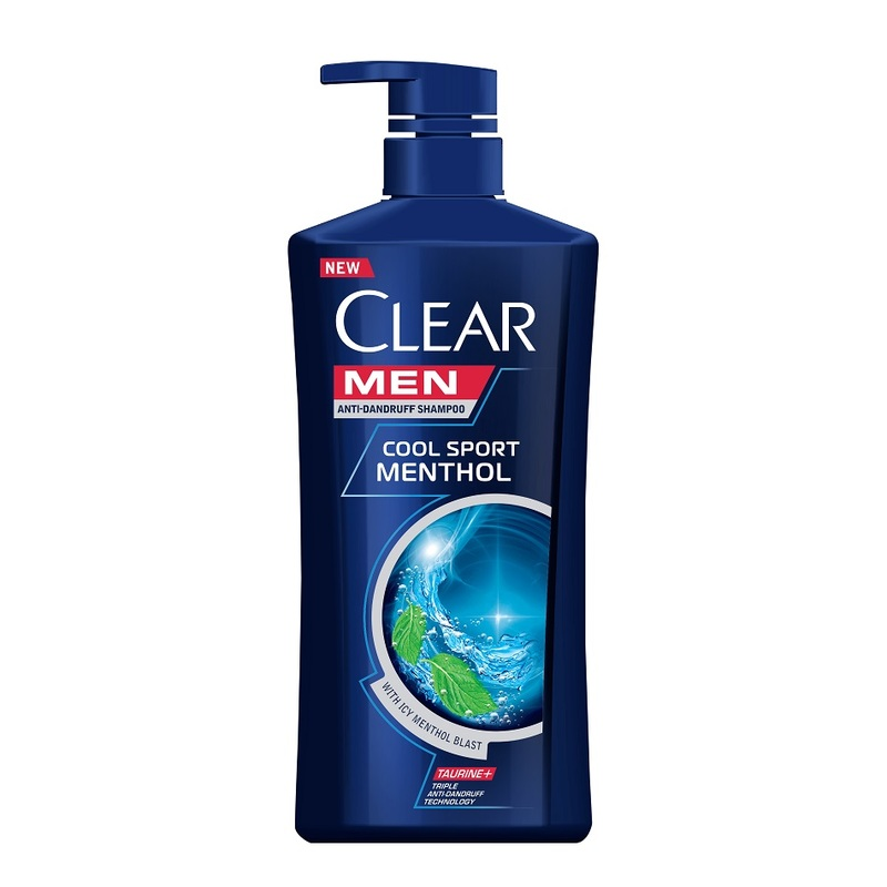 Clear Men Cool Sport Menthol Anti Dandruff Shampoo, 650ml