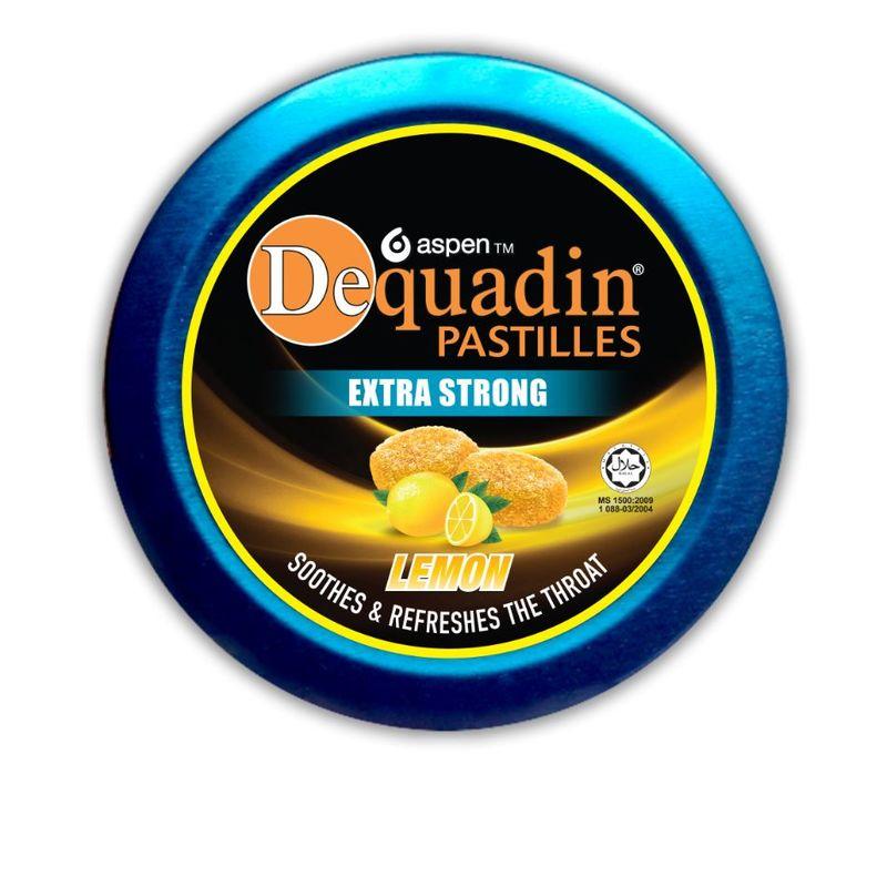 Dequadin Pastilles Extra Strong Taste Lemon, 46g