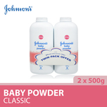 Johnson's Baby Powder Set, 2x500g