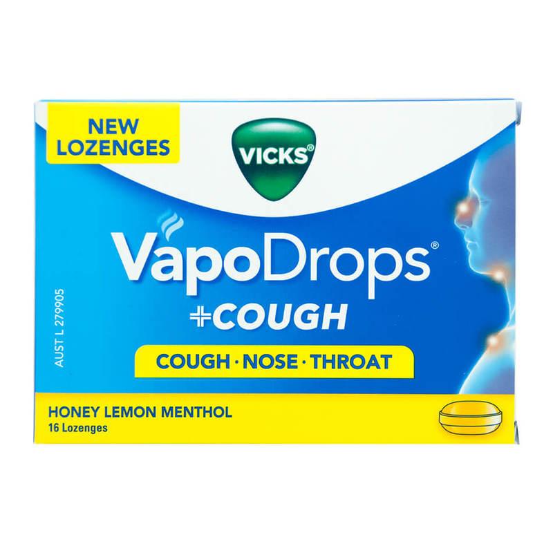 Vicks Vapodrops + Cough Honey Lemon, 16pcs