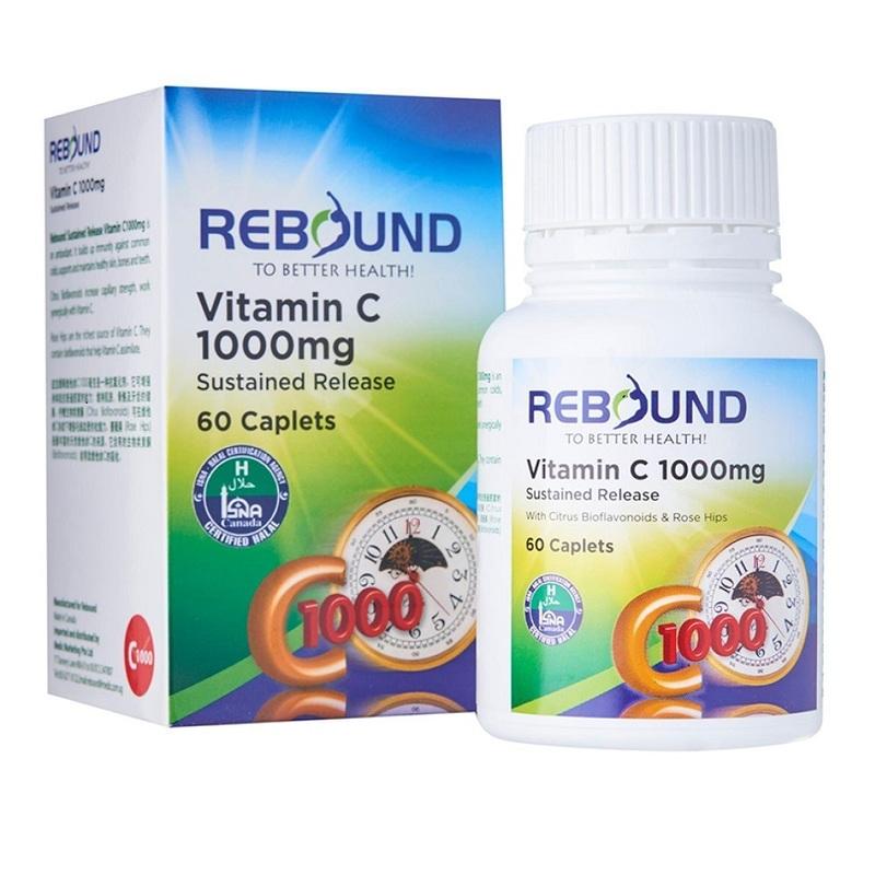 Rebound Vitamin C 1000mg TR with Rosehips & Citrus Bioflavonoids
