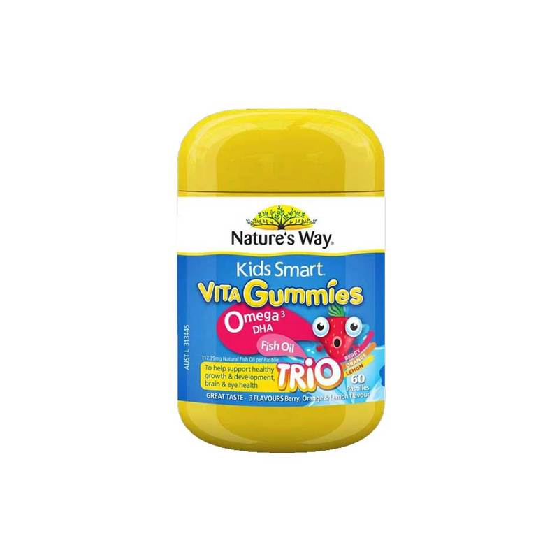 Nature's Way Kids Smart Vita Gummies Omega-3 Fish Oil, 60pcs