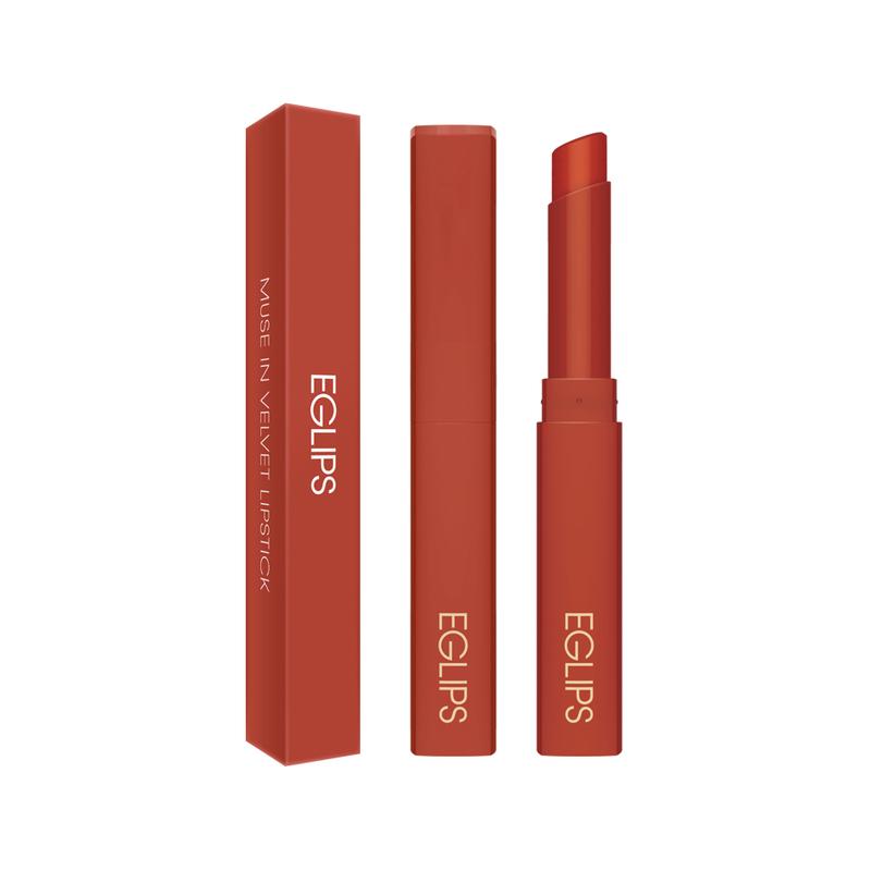 Eglips Muse In Velvet Lipstick V004 Over Chili