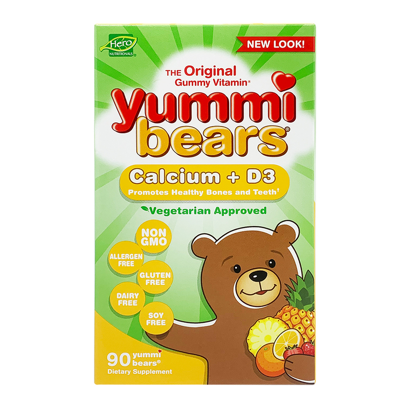 Yummi Bears Calcium + Vitamin D3, 90s