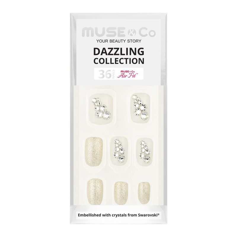 MUSE & Co Dazzling Collection 36 Nails, Bridal Shine