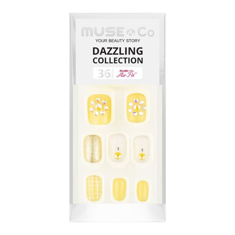 MUSE & Co Dazzling Collection 36 Nails, Luminious Sunshine