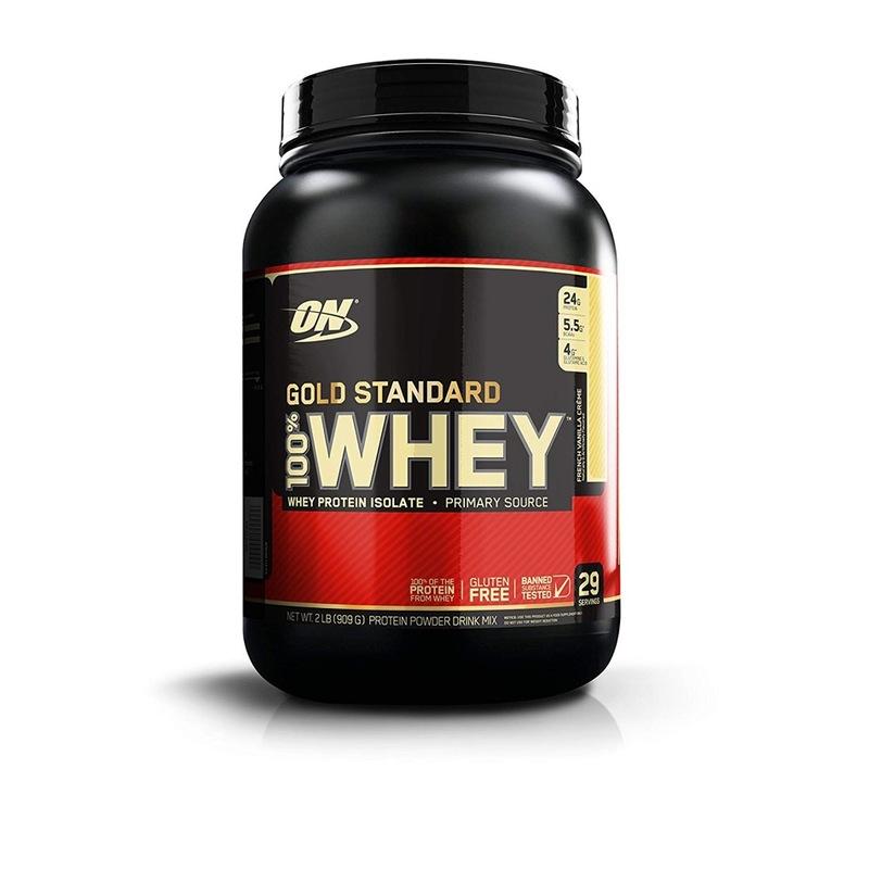 Optimum Nutrition Gold Standard 100% Whey Protein Vanilla Ice Cream Powder, 909g
