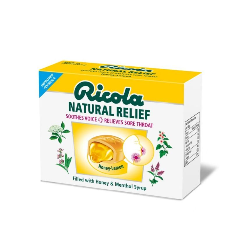 Ricola Natural Relief Lozenges Honey Lemon, 15pcs