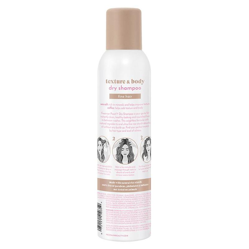 Freeman Psssst Texture and Body Dry Shampoo Sea Salt and Coffee, 150g