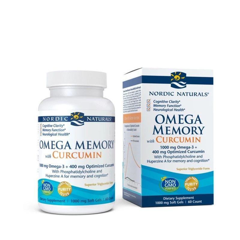 Nordic Naturals Omega Memory with Curcumin, 60pcs