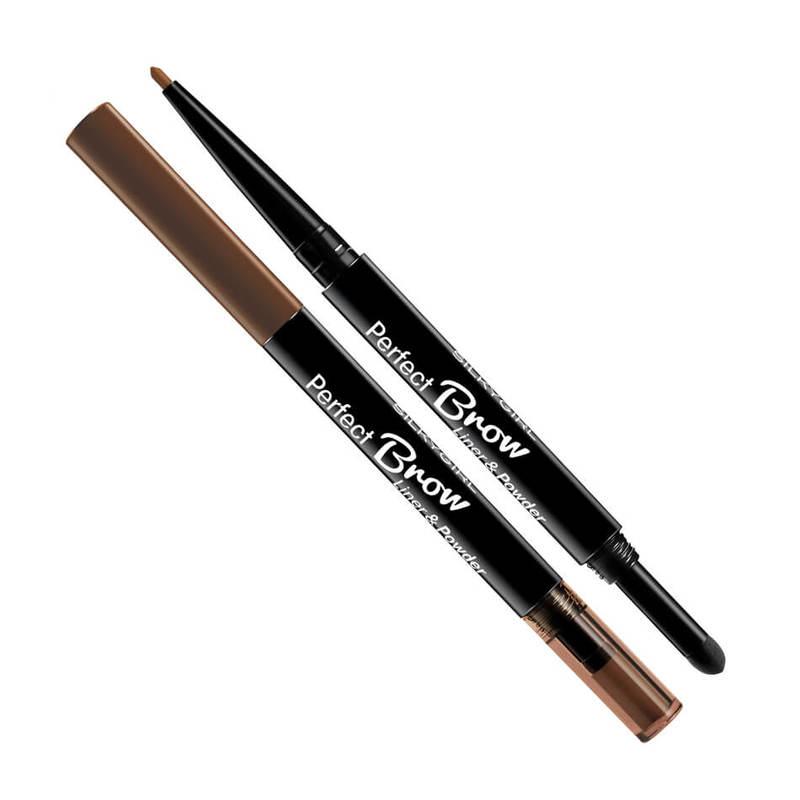 Silkygirl Perfect Brow Liner & Powder 01 Natural Brown