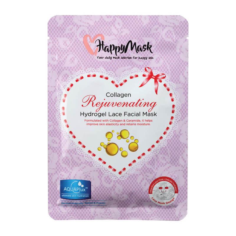 HappyMask Collagen Hydrogel Lace Facial Mask Rejuvenating