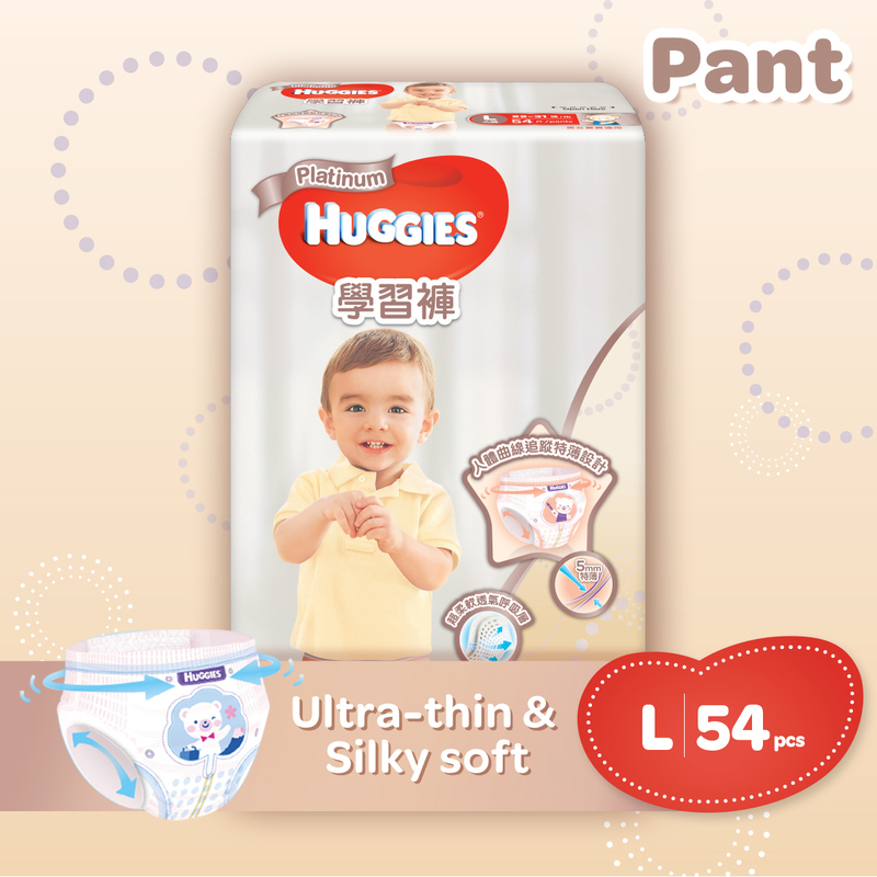 Huggies Platinum Pants L 54pcs