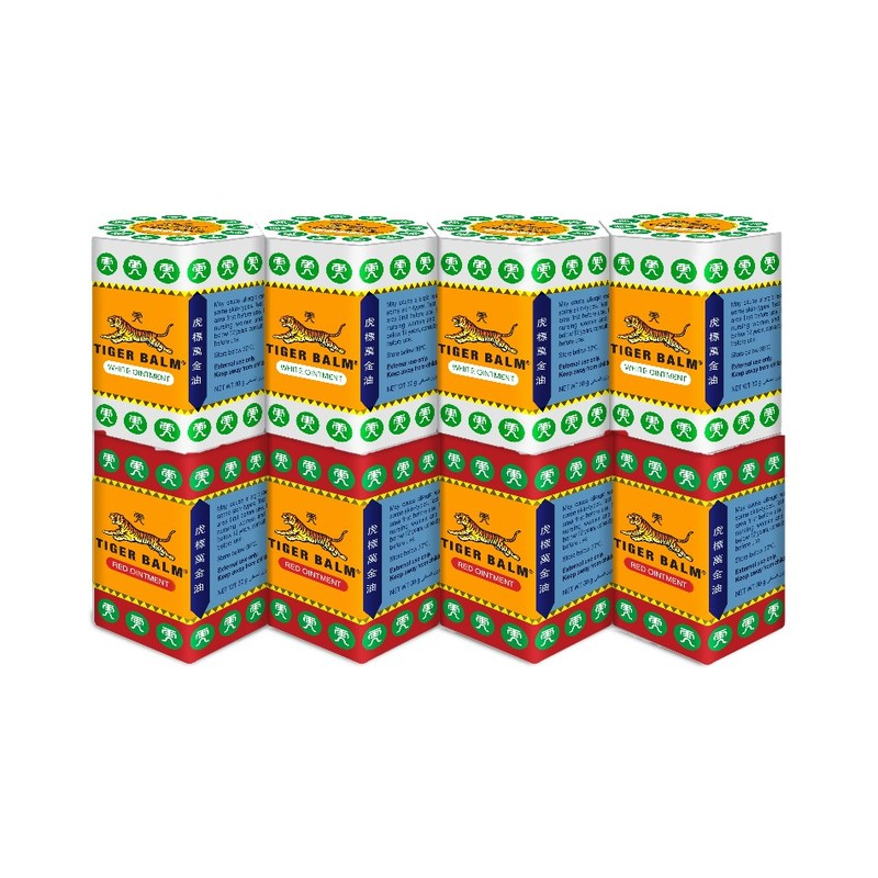 Tiger Balm Assorted Ointment, 8x30g