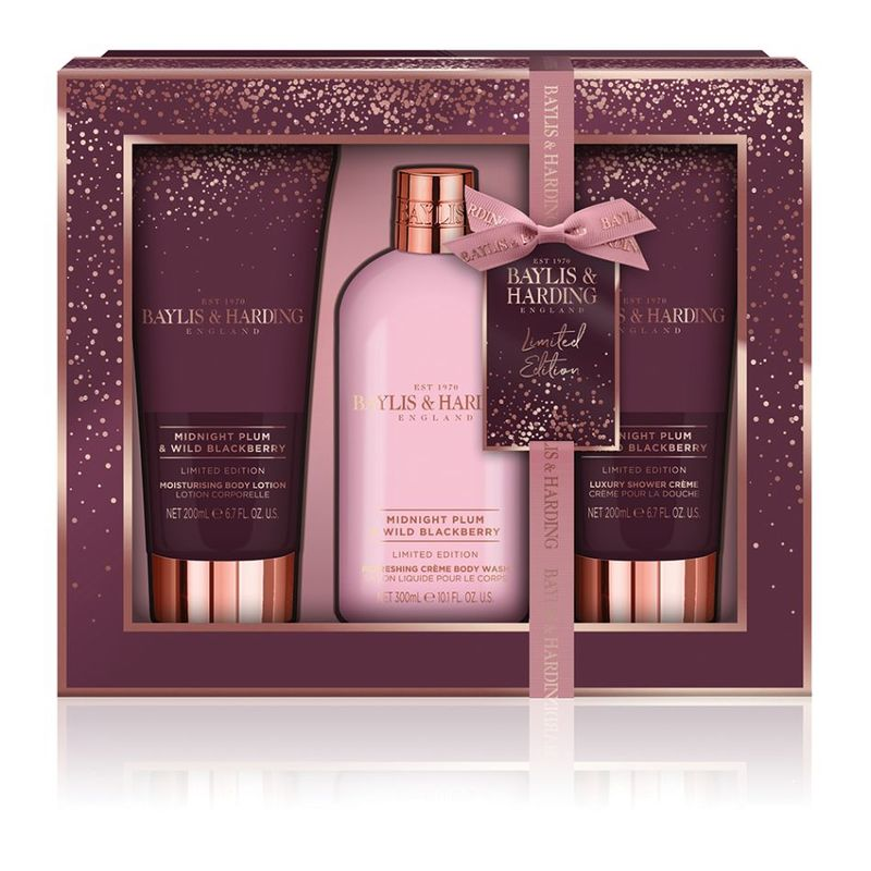 Baylis & Harding Midnight Plum & Wild Blackberry 3 Piece Set