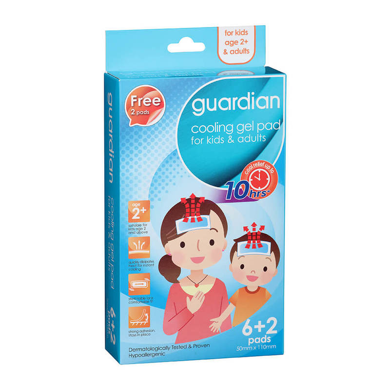Guardian Cooling gel Pad For Kids & Adults, 8pcs