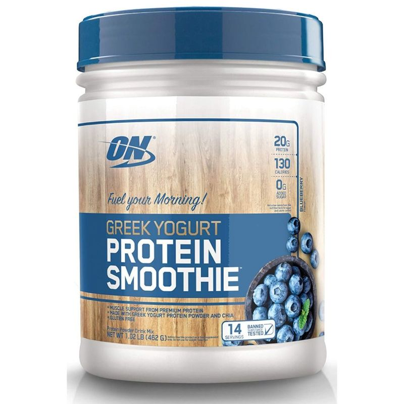 Optimum Nutrition Greek Yogurt Protein Smoothie Blueberry, 462g