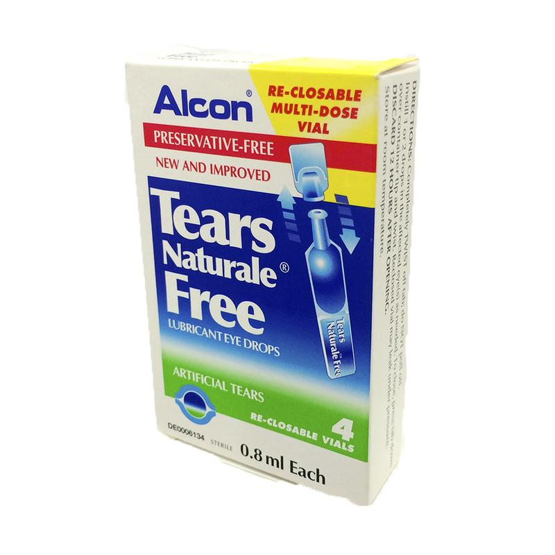 Alcon Tears Naturale Free Lubricant Eye Drops, 4pcs