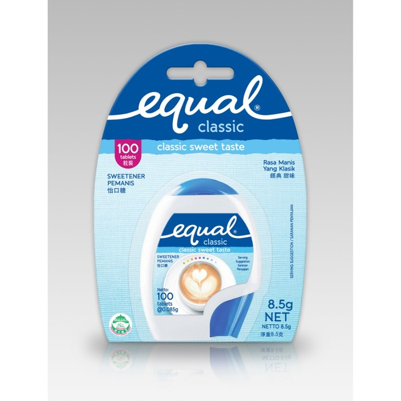 Equal Sweetener Classic Tablet Refill, 100 sachets