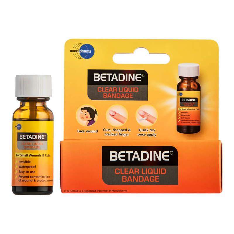 Betadine Clear Liquid Bandage, 8g