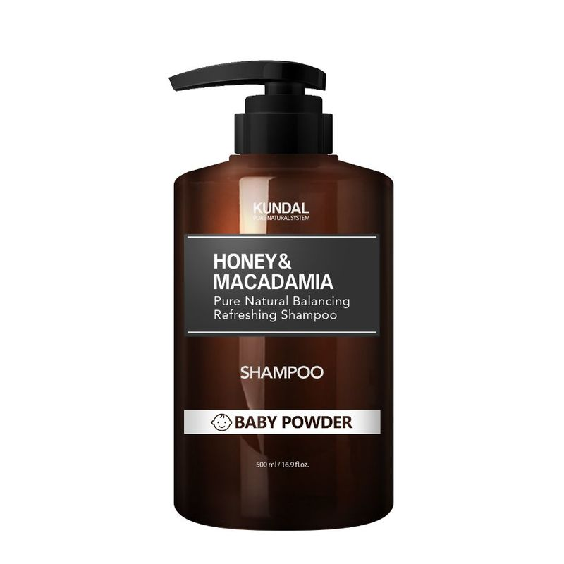 KUNDAL Honey & Macadamia Nature Shampoo - Baby Powder 500ml