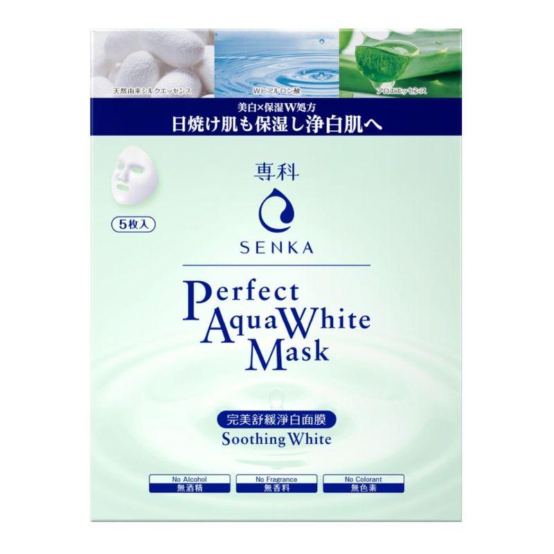 Senka Perfect Aqua White Mask - Soothing White 5pcs