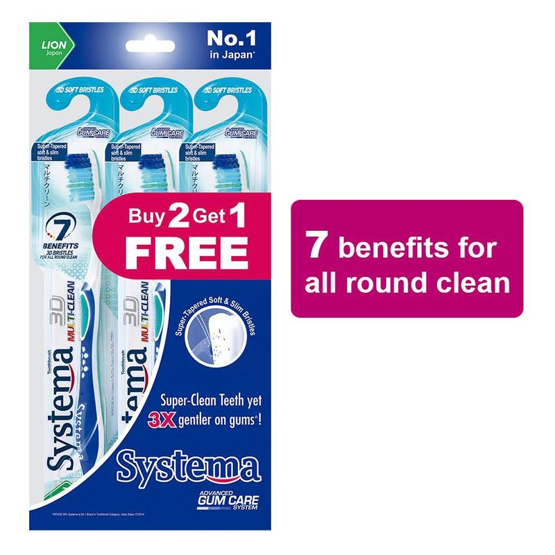 Systema  3D Multi-Clean Toothbrush 3s