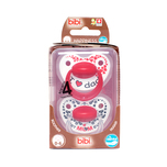 Bibi Happiness Mum/Dad Dental Silicone X2pcs With Ring (0-6Months) + Box
