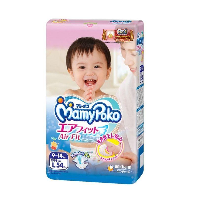 Mamy Poko Air Fit Tape Diaper L, 54pcs