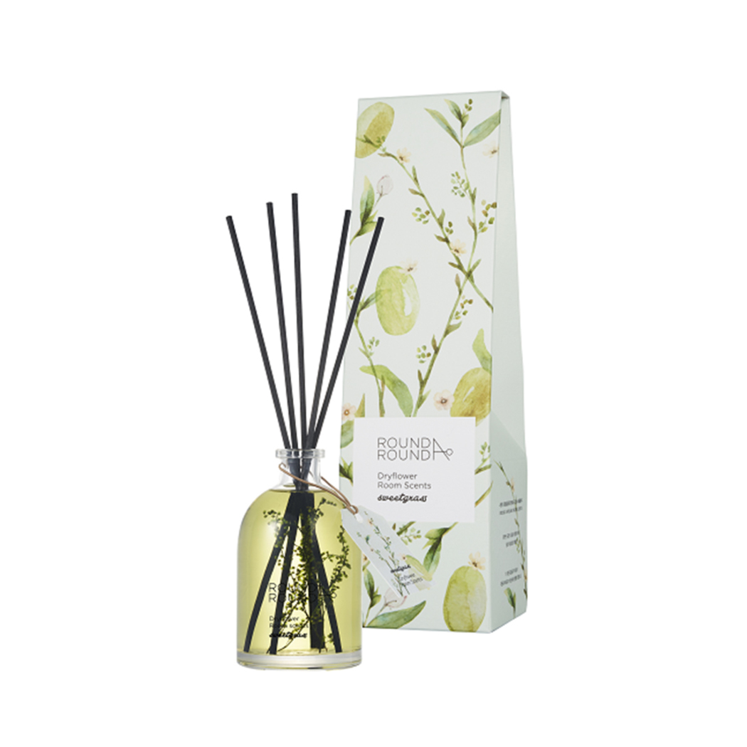 Round A Round Dryflower Diffuser Sweetgrass 145ml Round A Round Guardian Singapore