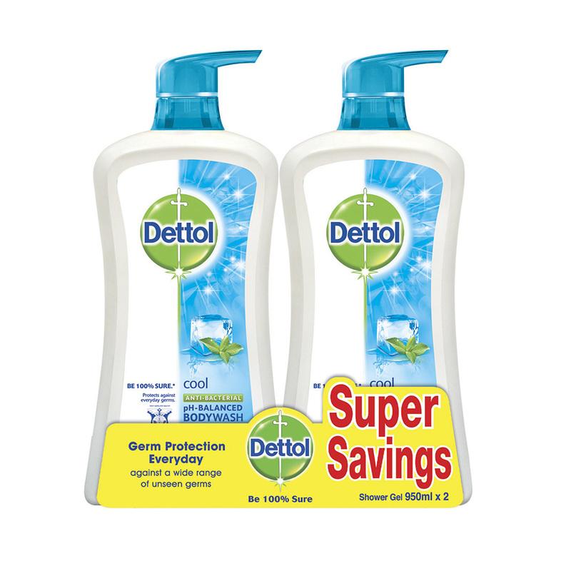 Dettol Shower Gel Cool Twin Pack, 2x950ml