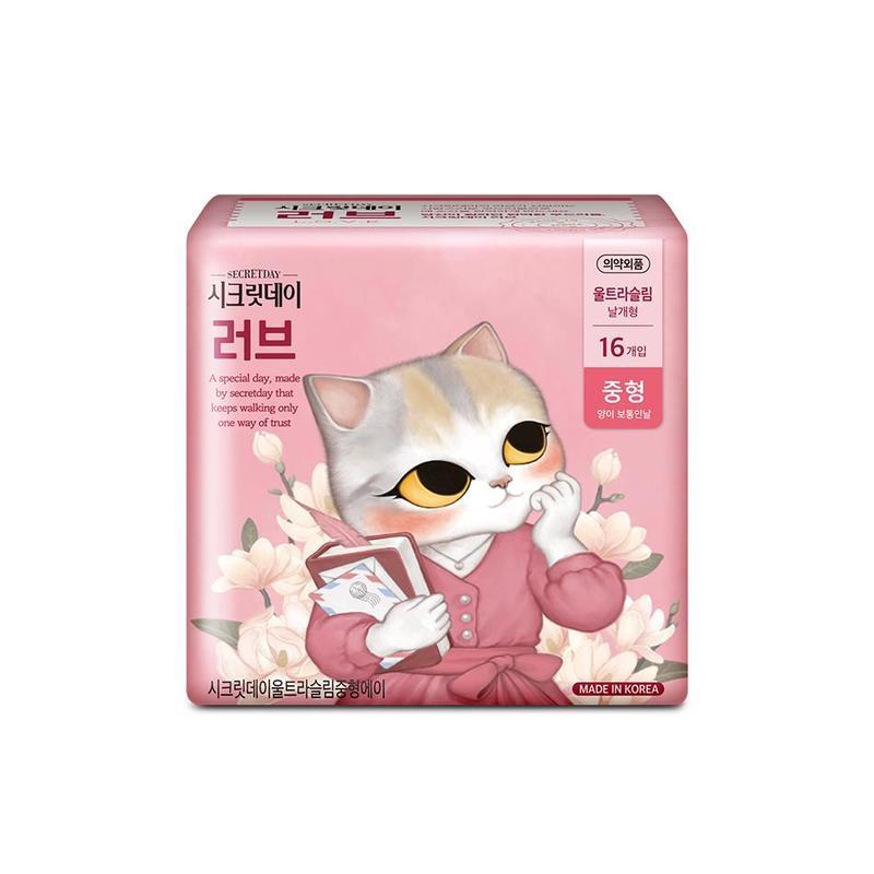 Secretday Love Ultra Slim Sanitary Pad 24.5cm, 16pcs